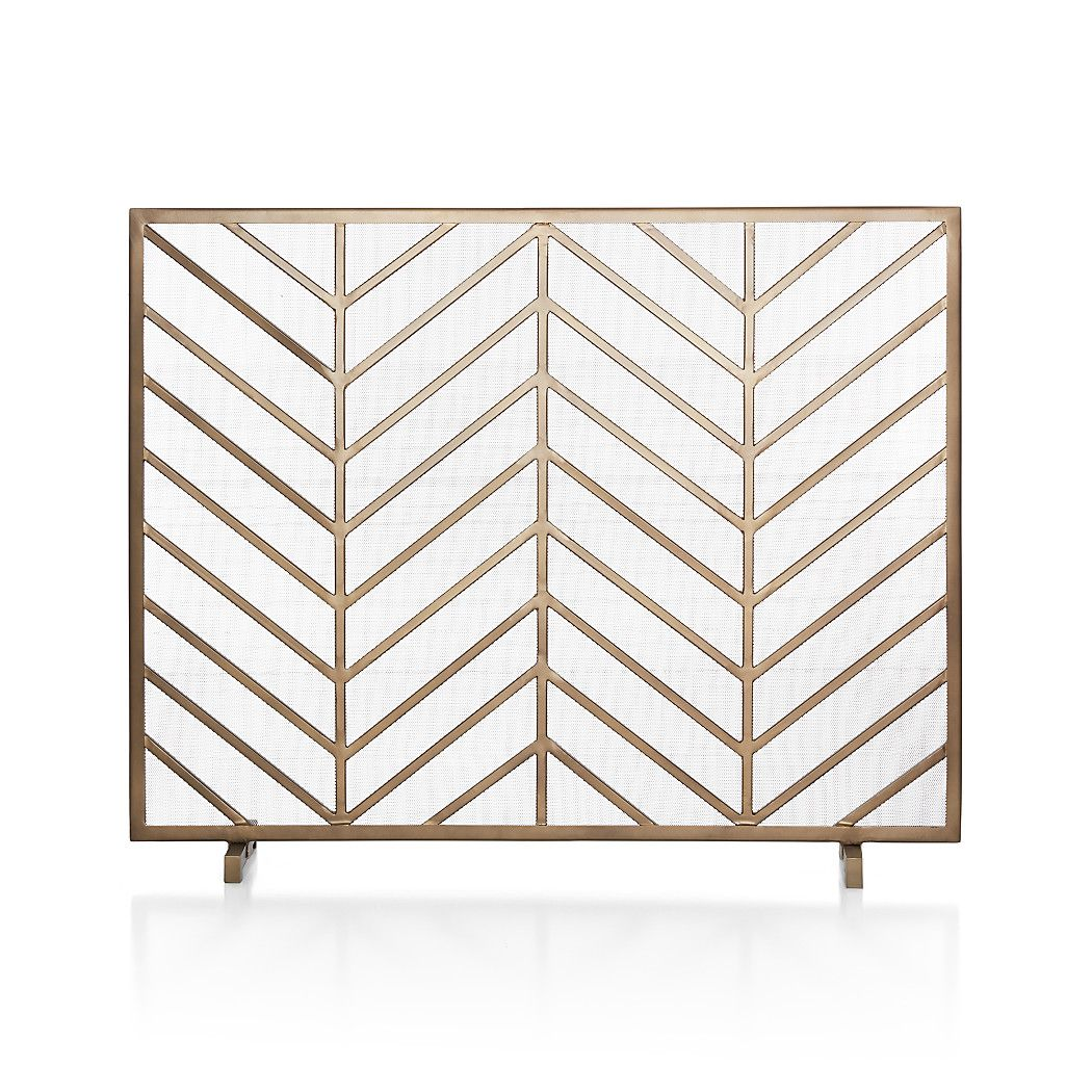Chevron Brass Fireplace Screen Reviews Crate And