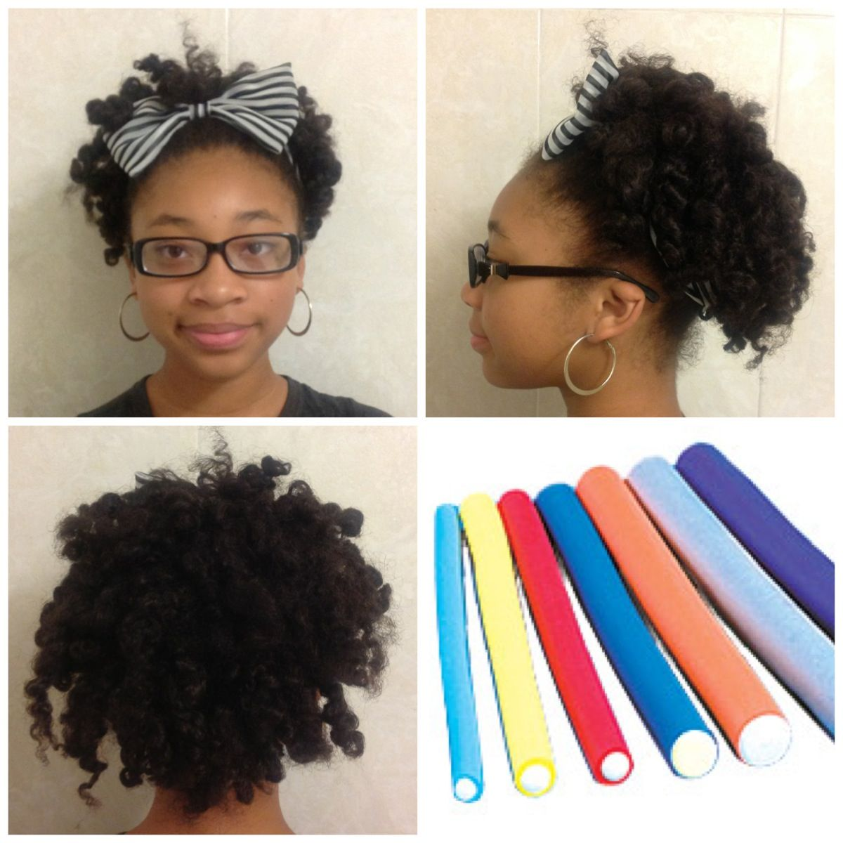 natural hair style: flexi rod w/a headband | natural hair journey