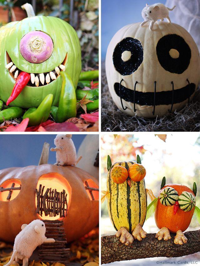 Halloween is pumpkin-tastic with help from Hallmark Pumpkin - how to make pumpkin decorations for halloween