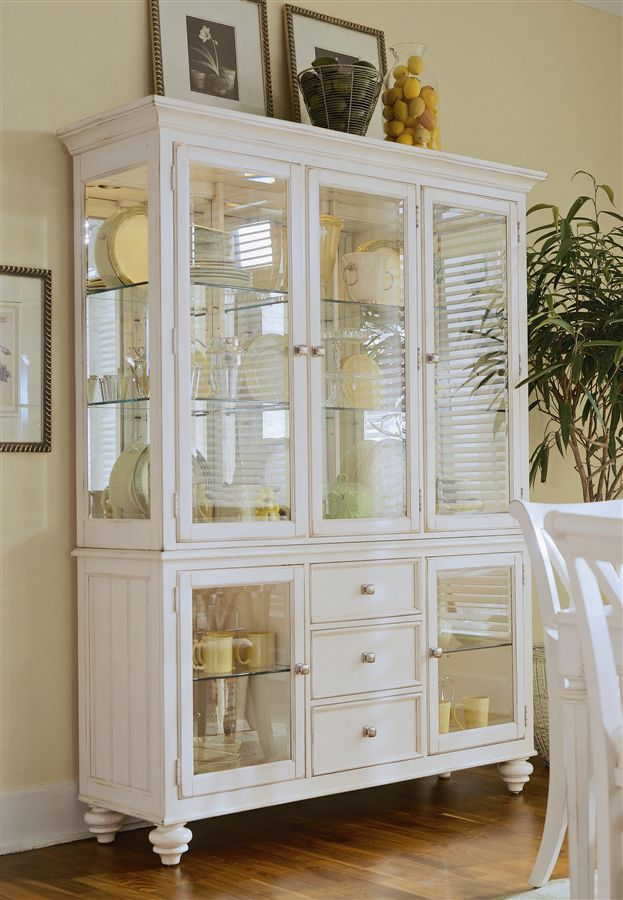 Little Less Glass Love White China Cabinets Dining Room Cabinet Home