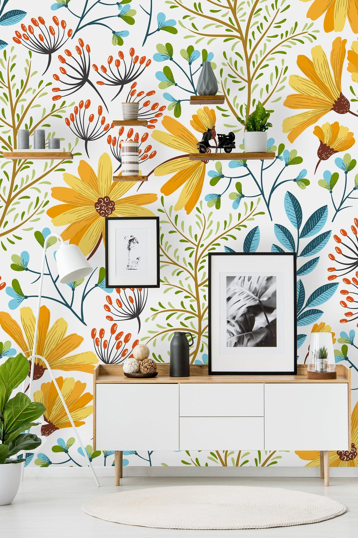 Removable Wallpaper Peel And Stick Wallpaper Self Adhesive Etsy Removable Wallpaper Peel And Stick Wallpaper Boho Wallpaper