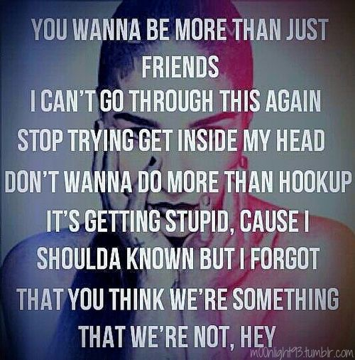 Hookup Just Or We Lyrics Are Friends