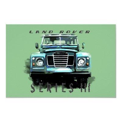 Vintage #LandRover Poster