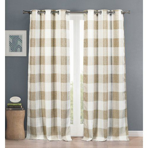 Found it at Joss & Main - Becquets Plaid and Check Blackout Thermal Curtain Panels