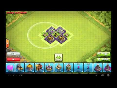 Amazing TH3 Farming Base Layout - Clash of Clans - YouTube