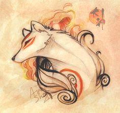 Goddess Of Sun By Ainashadox On Deviantart Art Amaterasu Fox Art