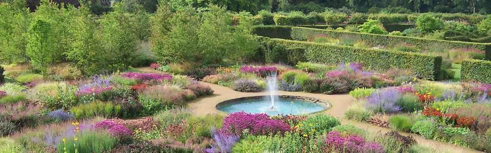 North Yorkshire, England Scampston Hall The Walled Garden ...