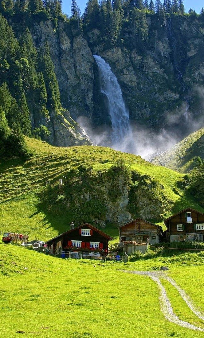Klausen Pass Is A High Mountain Pass In The Swiss Alps Connecting The Cantons Of Uri And Glarus The Pass Road Waterfall Beautiful Places Wonders Of The World