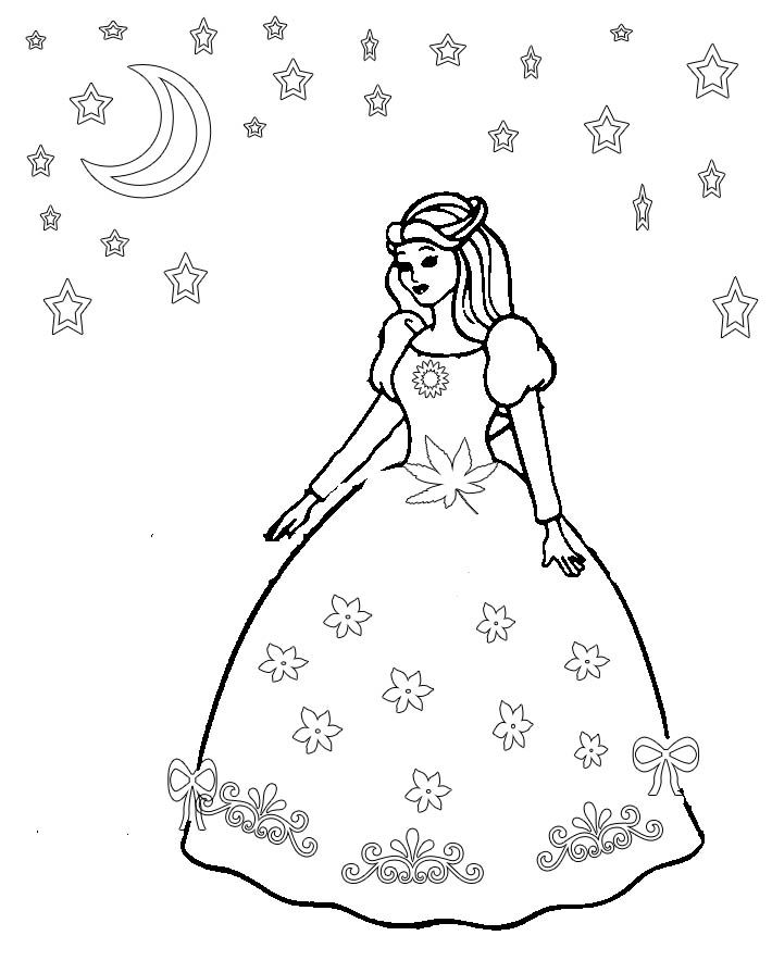 3 Princess Dresses Free To Print And Color Barbie Coloring Pages Baby Coloring Pages Coloring Pages