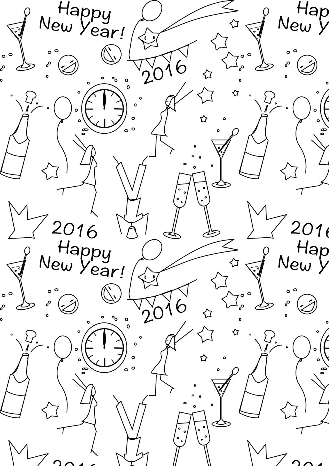 FREE printable New Year\'s coloring page | NYE | PRINTABLES ...