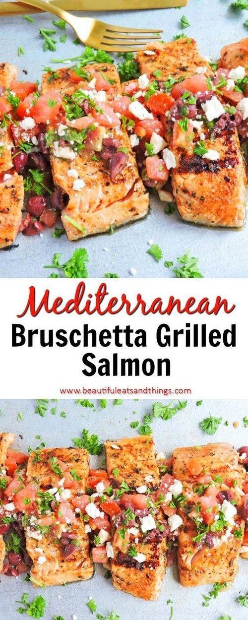 Photo of Grilled Mediterranean Bruschetta Salmon + The Power of Salmon – Beautiful Eats &…