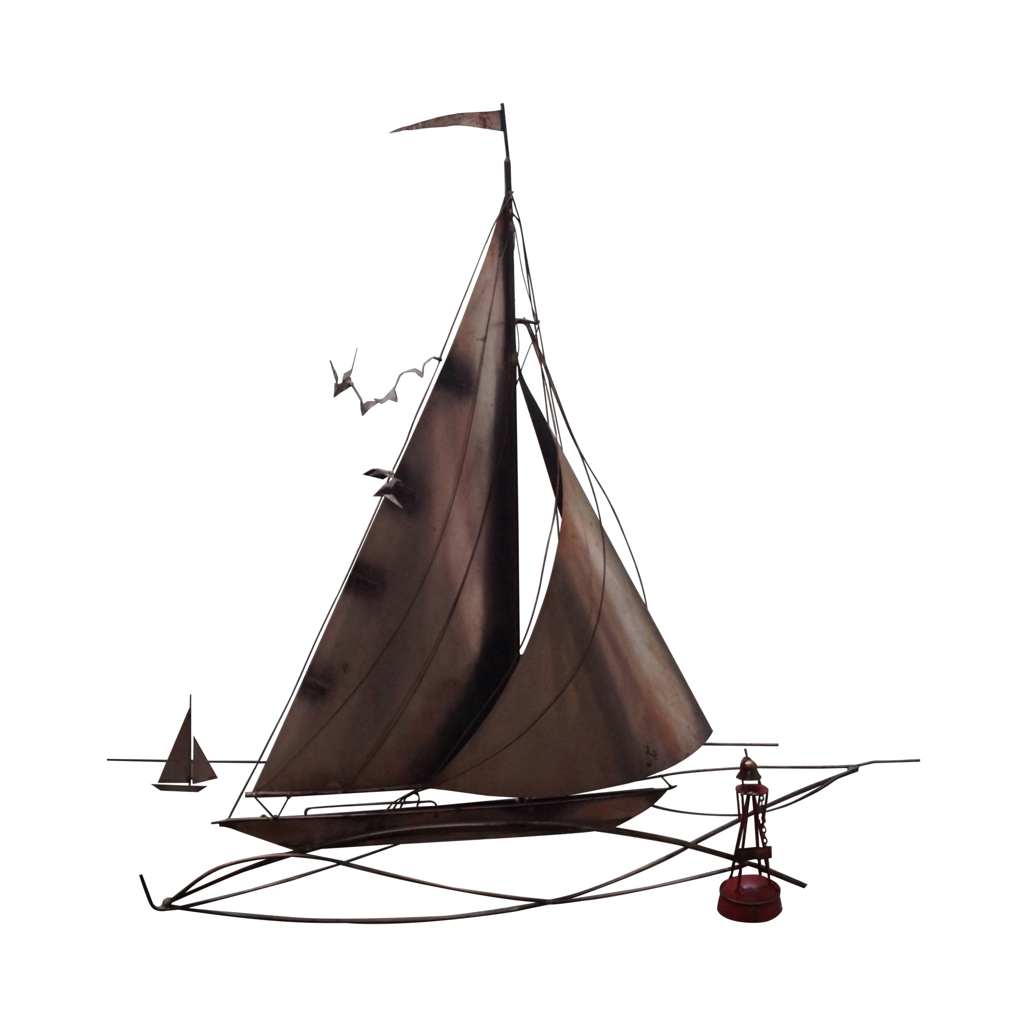 Image Of Curtis Jere Metal Wall Sculpture Of Sailboat Metal Sculpture Wall Art Wall Sculpture Art Metal Wall Sculpture