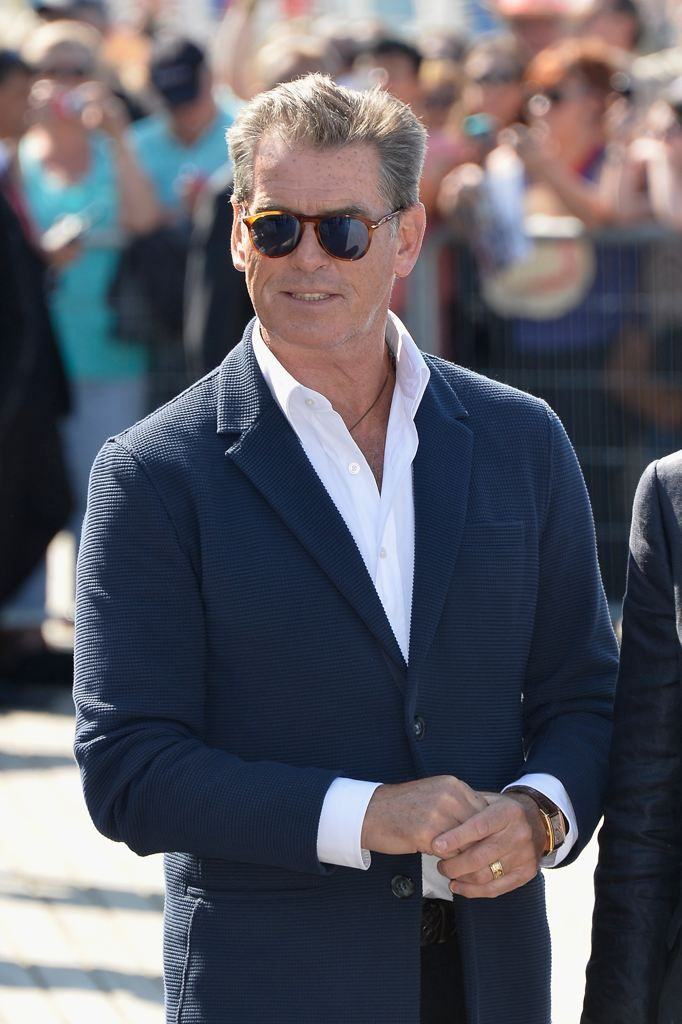 85acc1a863 Pierce Brosnan wearing Persol style PO9649-S 96 S3 at the Deauville Film  Festival