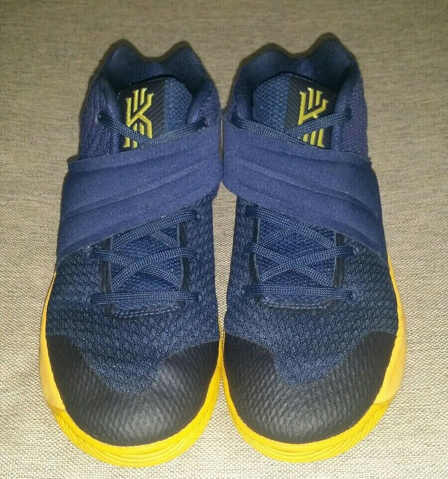 the latest f49e1 b2a84 Nike Kyrie 2 GS Mid Navy Gold 827280-447 Size 3Y Youth ...