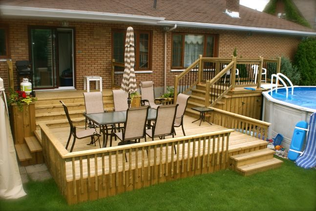 Above Ground Pools Decks Idea | 2007/2013Patio Plus Inc. All Rights Reserved