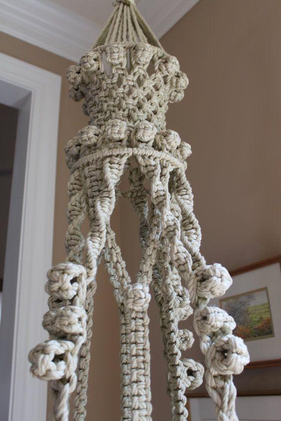 Fabulous handmade hanging macrame plant holder and