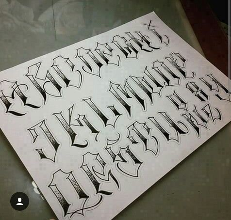 Chicano Lettering Letterine Tattoo Pinterest Calligrafia