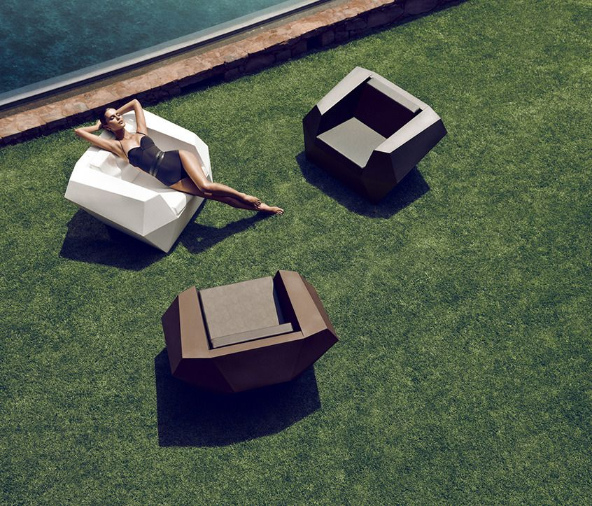 Chairs Vondom Faz Lounge Chair outdoor furniture Pinterest - designer gartensofa indoor outdoor