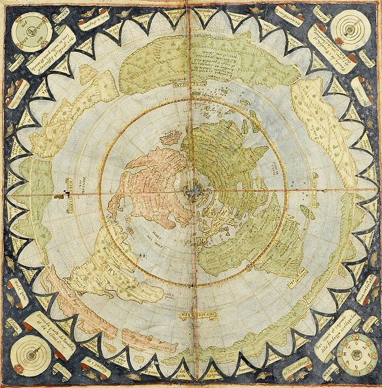 Flat Earth old map by waney1 | RANDOM INSPIRATION: