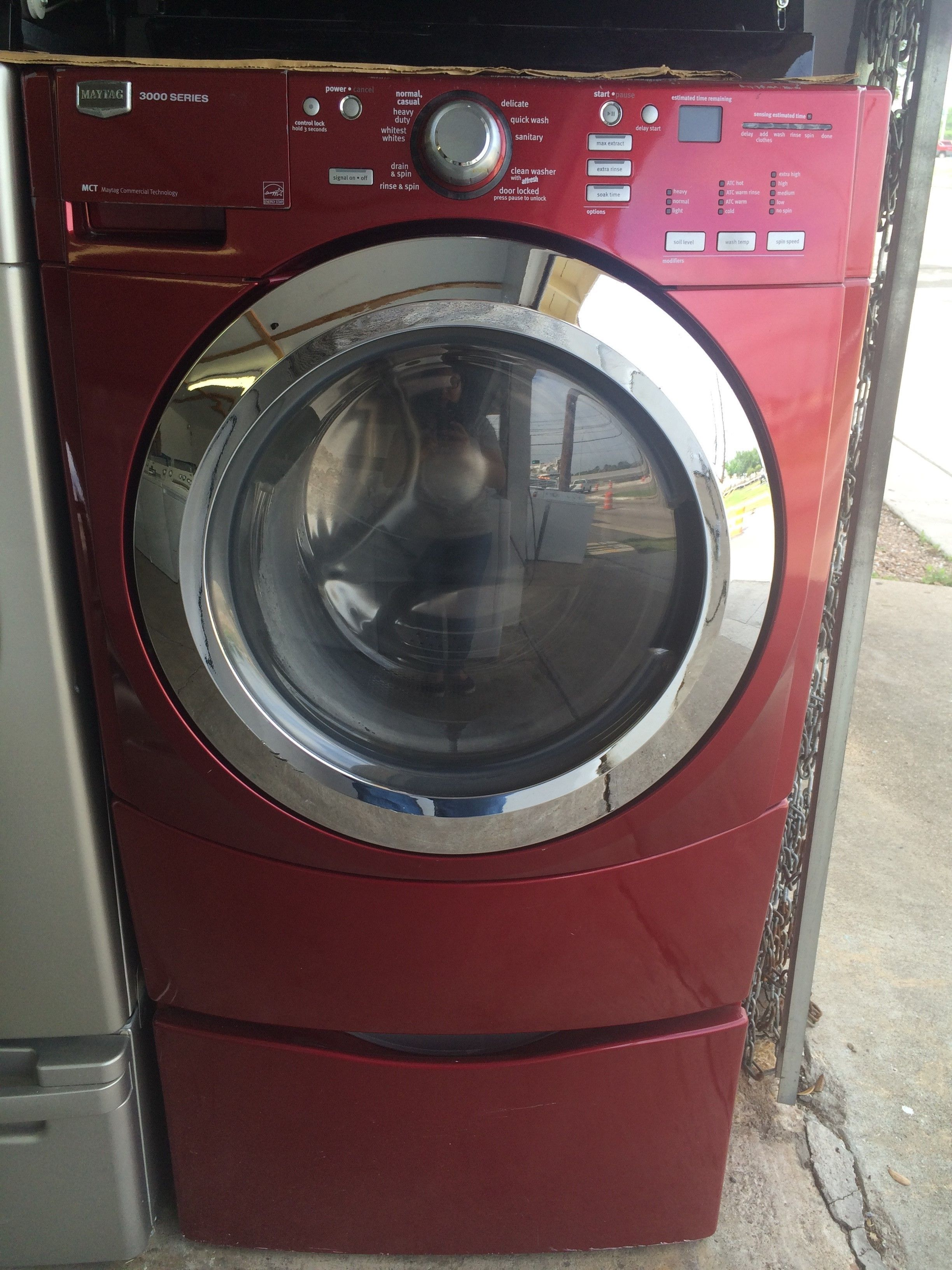 Maytag Front-Load Washer in Red Appliance Store located in Southwest Houston offering affordable prices on many household appliance brands. Located at: 4105 Cook Rd. Houston, TX 77072 281-933-9638 #houston #appliances #southwest #used #affordable #sale #texas #washers #dryers #refrigerators #icantbelieveididntfindthisanysooner #stoves #ranges