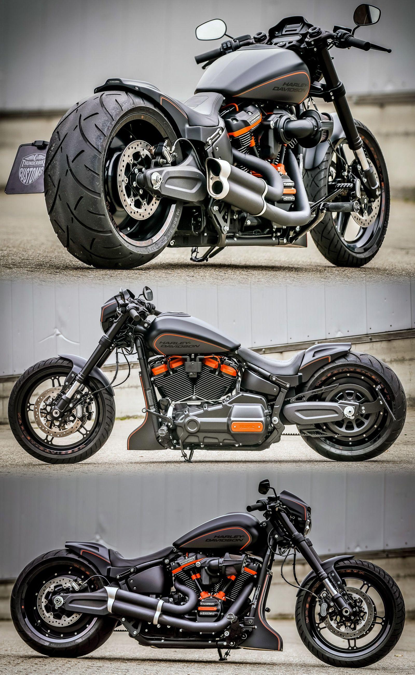 Thunderbike Harley-Davidson FXDR Custom Motorcycle Dragster Style   Custom motorcycles  harley, Bobber motorcycle, Harley bikes
