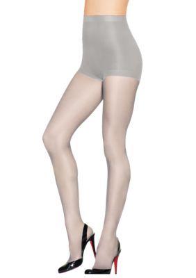 2fd4cfb5d Hanes Women s Silk Reflections Control Top Sandalfoot Pantyhose - Grey Mist  - A B