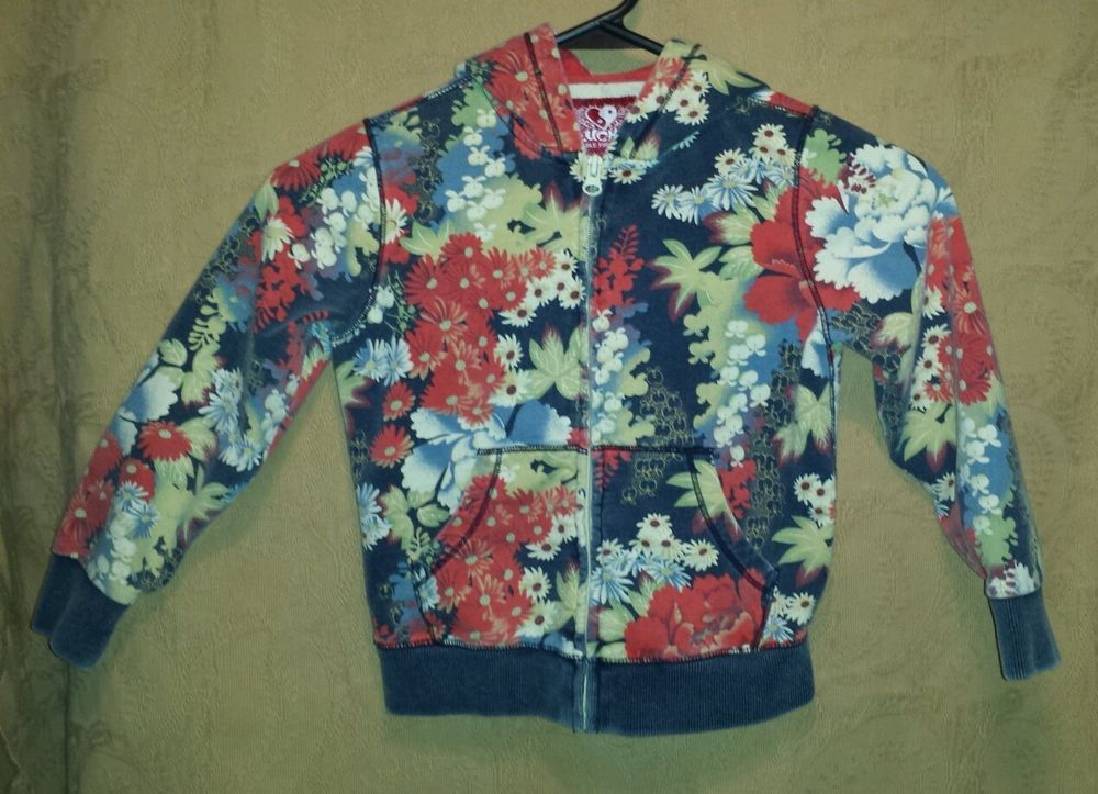 Lucky Brand Suitable For Framing Floral Sweatshirt Hoodie size XS (3/4Y) #LuckyBrand #Casual #EverydayHoliday