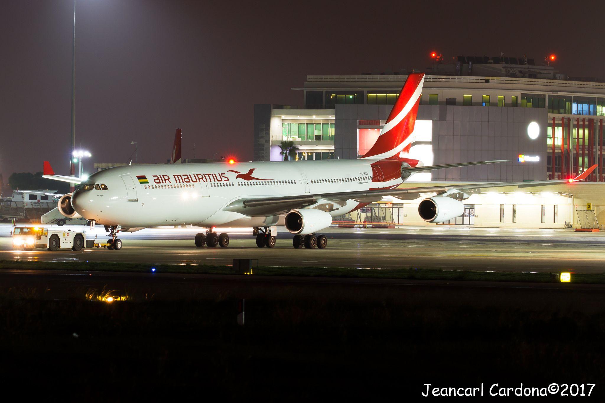 Air Mauritius Airbus A340 312 3b Nau Lmml