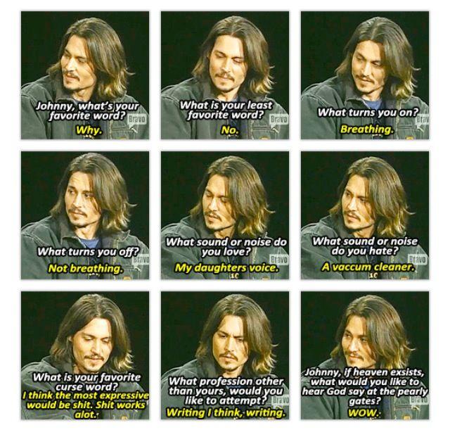 Johnny Depp Inside The Actor S Studio Interview Johnny Depp Funny Funny Interview Johnny Depp Quotes