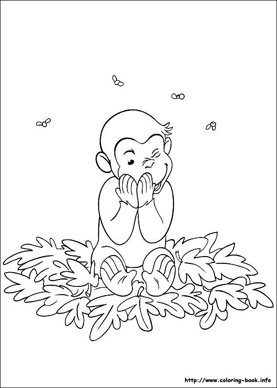 Curious George Coloring Picture Curious George Coloring Pages Bee Coloring Pages Coloring Books