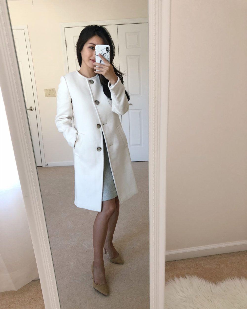 Amazing Petite Friendly Black Friday Deals Dress Coat Outfit White Coat Outfit Fashion [ 1253 x 1000 Pixel ]