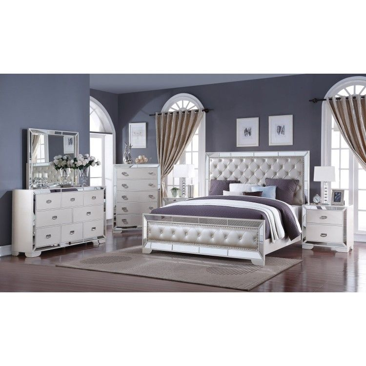 The Gloria 6 pc Queen Bedroom Set from Cosmos Furniture is made with ...