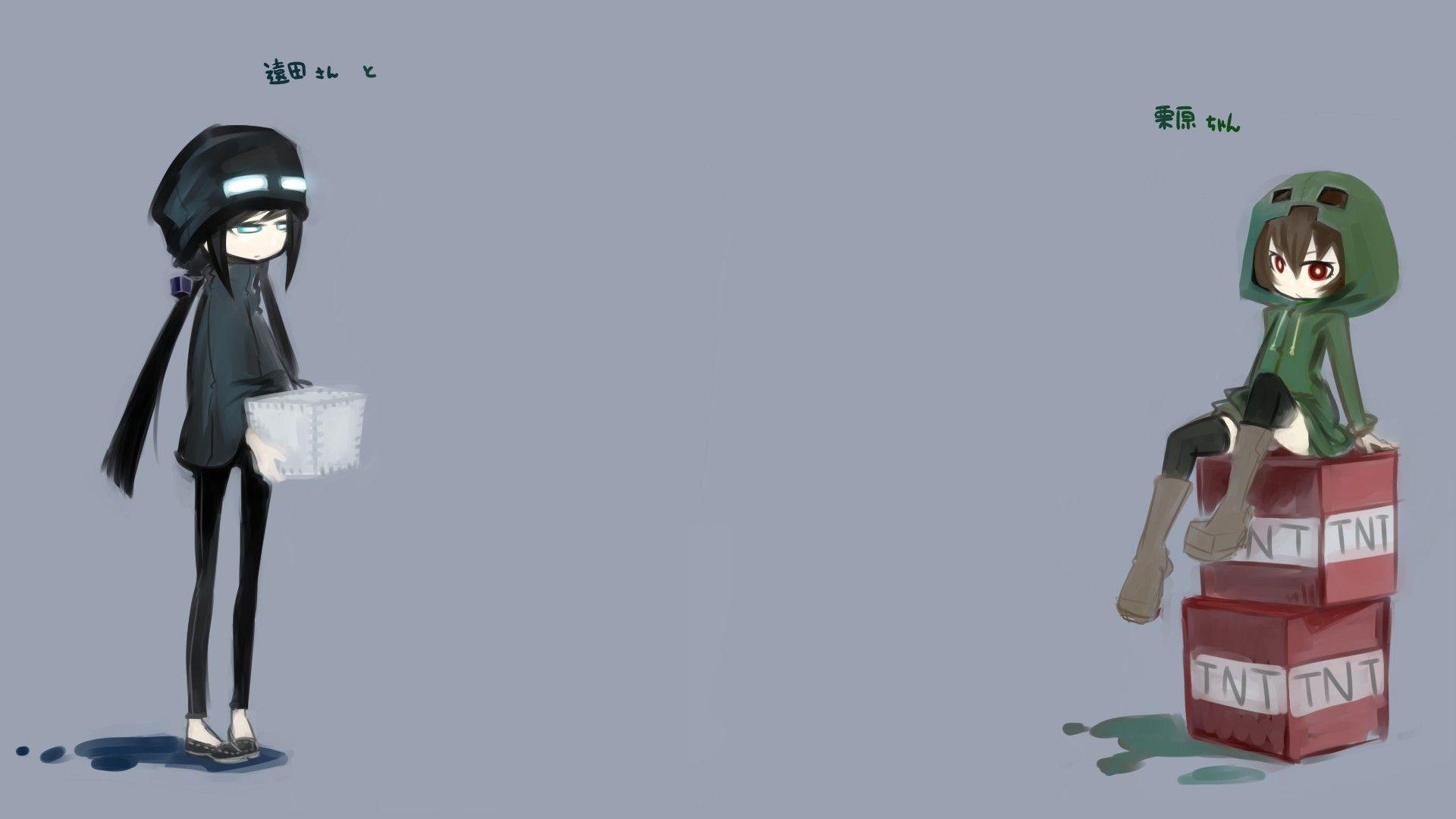 Enderman Drawing Anime Girls Creeper Minecraft Wallpaper
