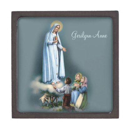 Vintage Our Lady of Fatima Children Rosary Jewelry Gift Box | Zazzle.com #rosaryjewelry