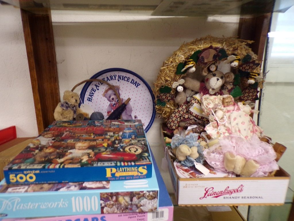 Shelf Of Teddy Bear Items