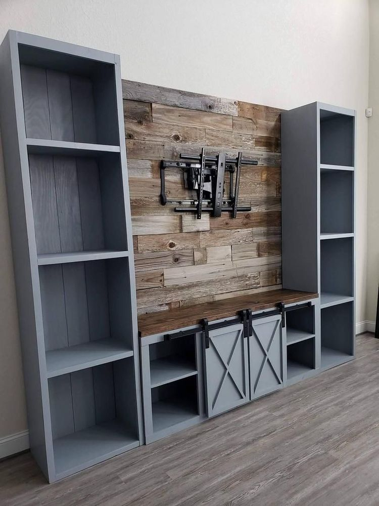 Pin by Sharon Miller on tv in 2020 Farmhouse tv console