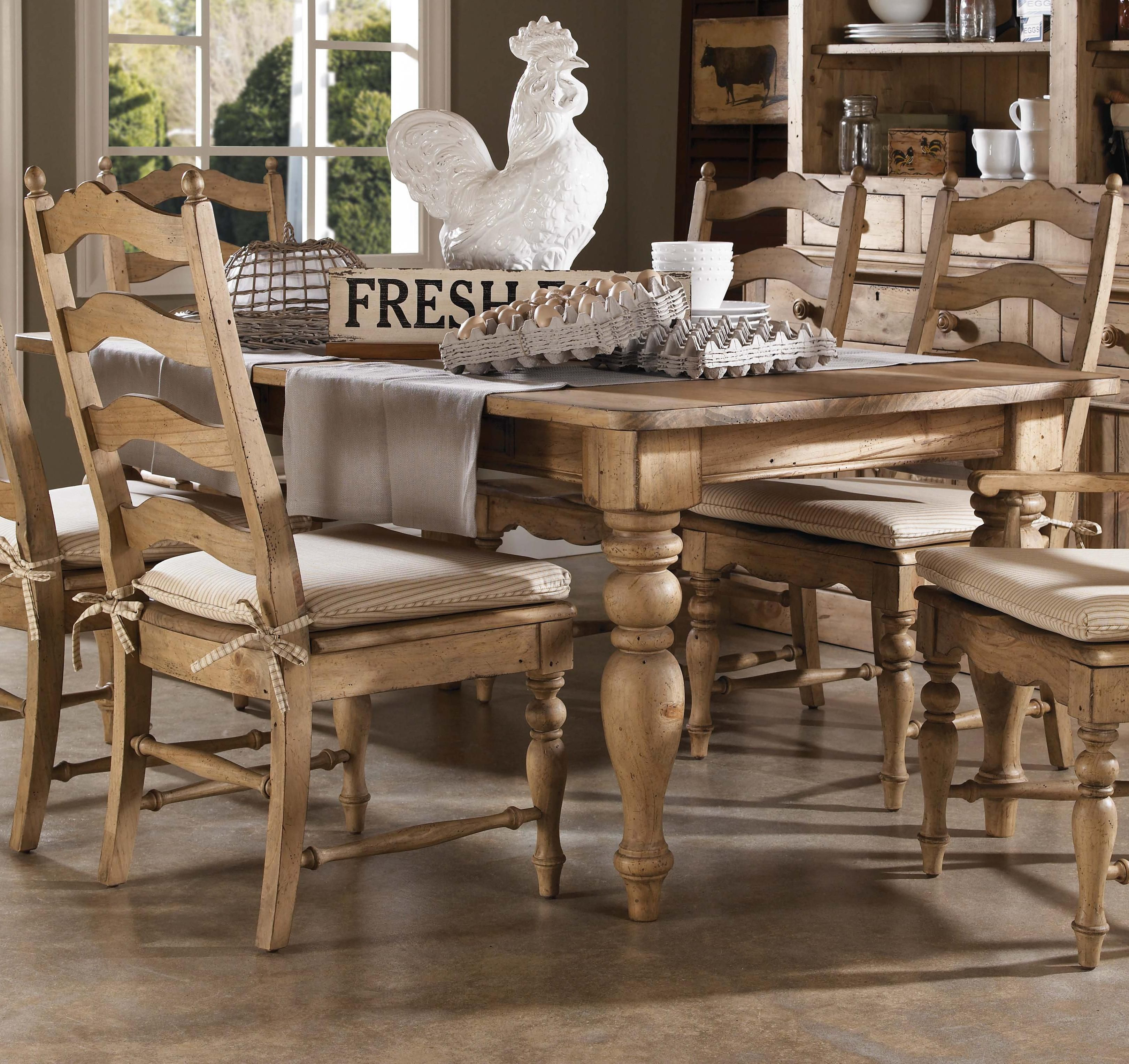 Homecoming Farmhouse Leg Table With Four Drawers By Kincaid Furniture