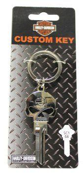 Harley Davidson Willie G Skull Blank House Key Harley Davidson Harley Skull
