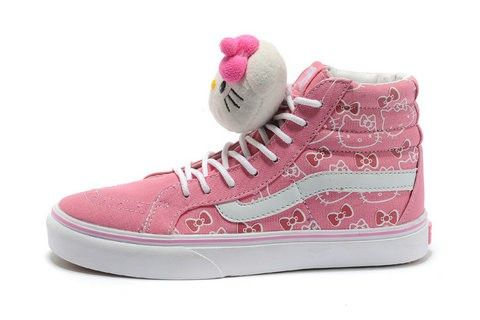 Buy Cute Hello Kitty Shoes Vans Pink Hi Tops Cheap