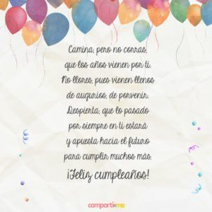 Tarjetas Con Poemas De Cumpleanos Para Enviar A Un Ser Querido Tarje Poemas De Cumpleanos Felicitaciones De Cumpleanos Originales Felicitaciones De Cumpleanos