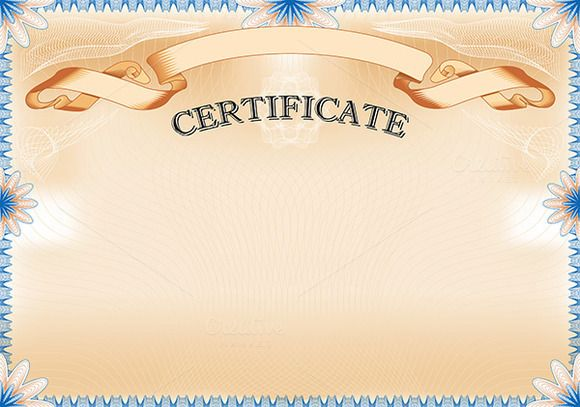 Vintage Certificate with ribbon by AK Design on Creative Market - certificate designs templates