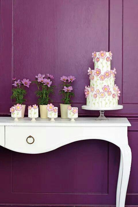 Wedding cake. Or birthday cake flowers