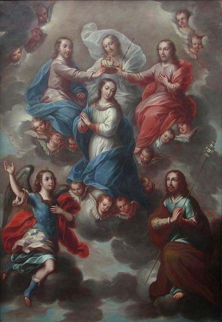 La Coronación de la Virgen, Nicolás Enríquez, Museo Andrés Blaisten, Cdad. de México, D.F., via Flickr.