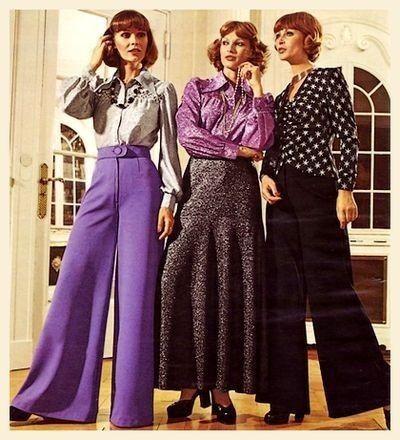 disponible nueva temporada belleza Moda Años 70: pantalones de campana   Moda Años 70 en 2019 ...