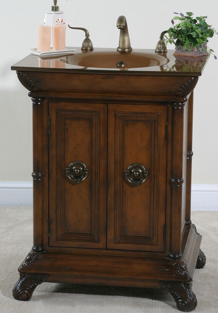 Accents Petite Bathroom Vanity 27 Inches Sink Features A Gold Glass Top Bathroom Pinterest