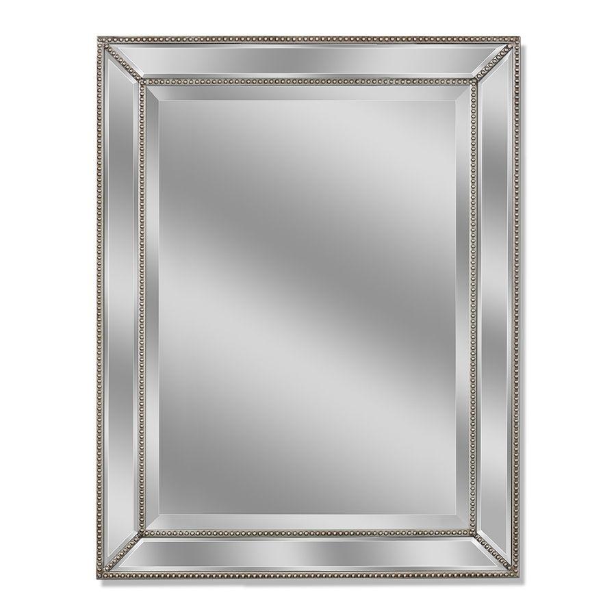Dazzling Silver Leaf Frameless Wall Mirror | http://drrw.us ...