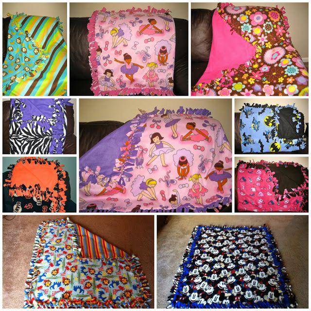 Mommas Like Me: No Sew Fleece Tie Blanket {Tutorial} | How to\'s ...