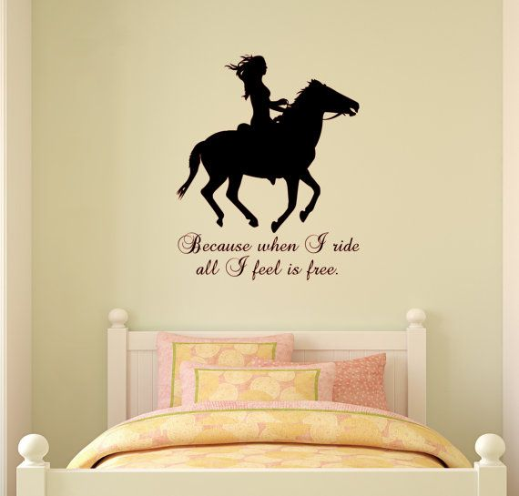Nice Horse, Quote Sticker, Wall Decal, Wall Words, Girls Bedroom Decor, Teen,  Dorm Room Decor, Mustang, P