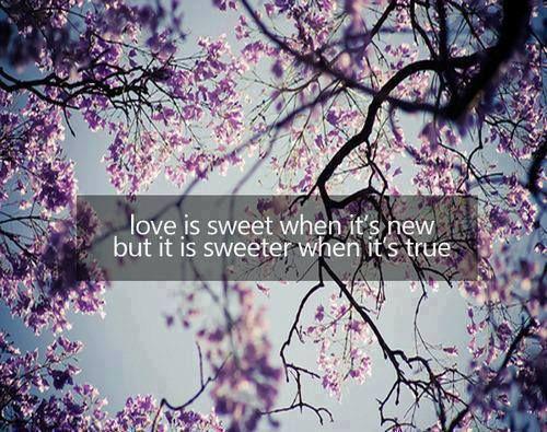 Love is sweet..