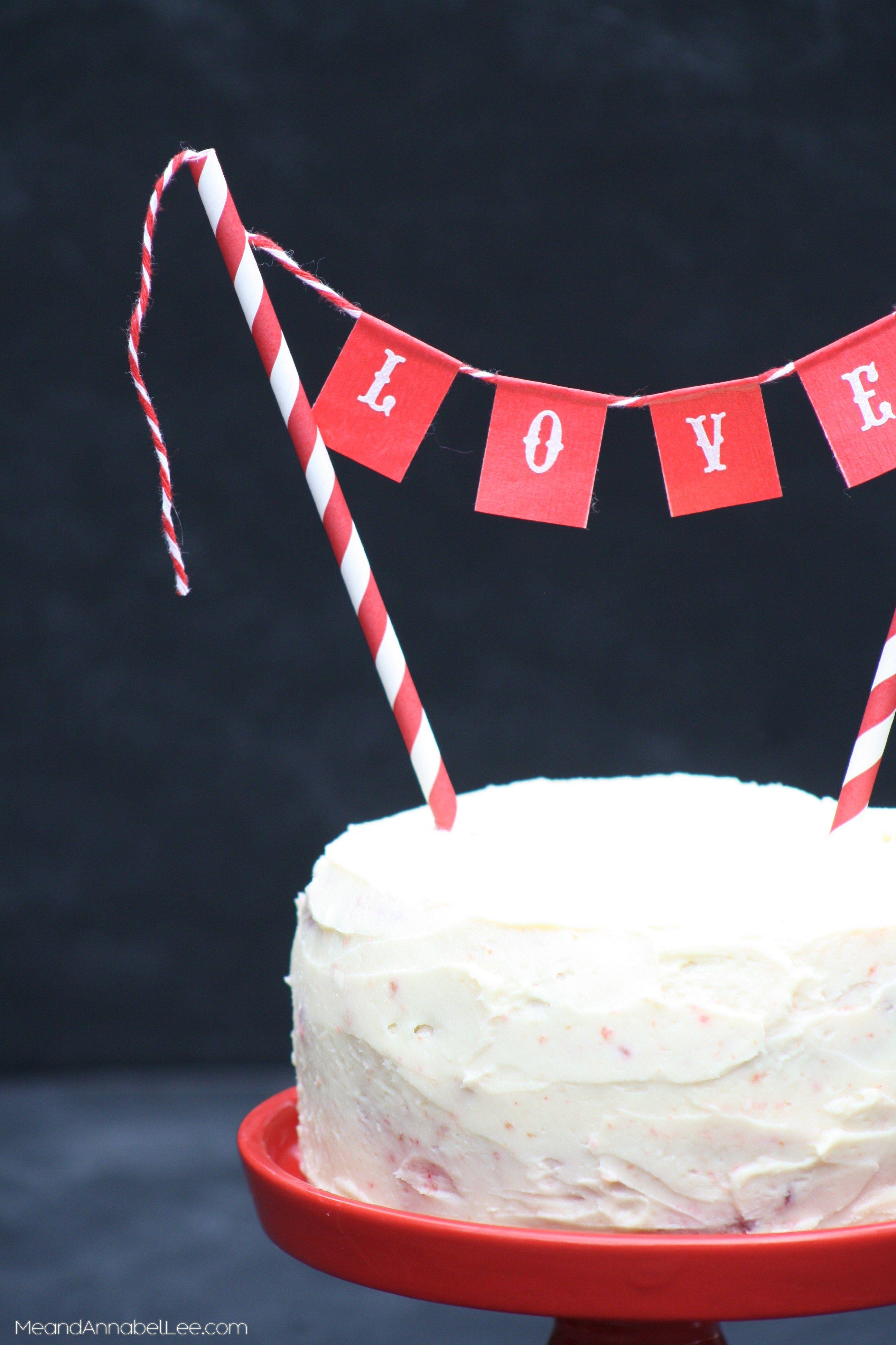 Cirque Love Bunting Valentine S Day Cake Topper Valentine S